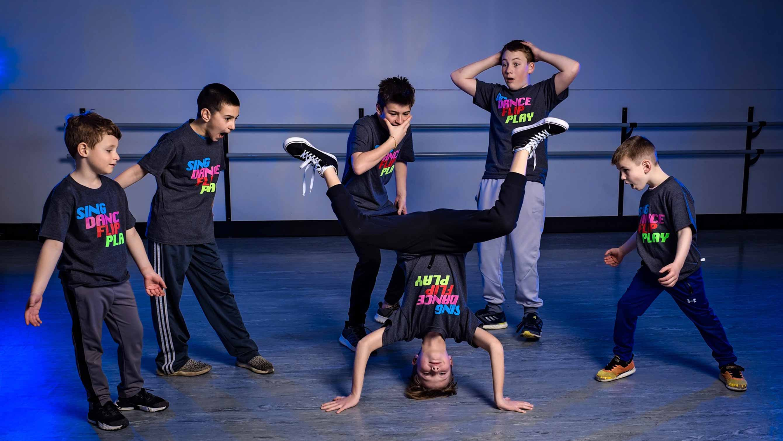 Photo of boys in hip hop class