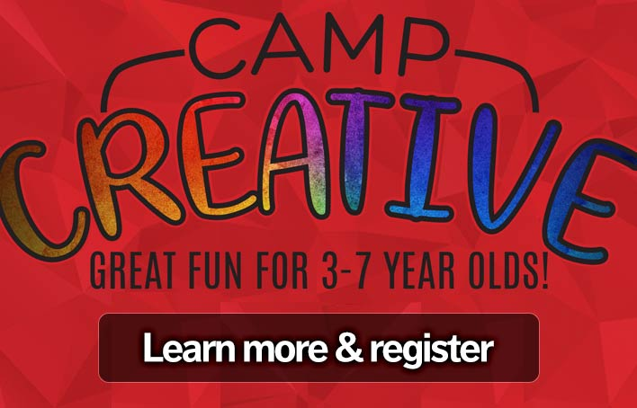Click to register for Camp Creative camps
